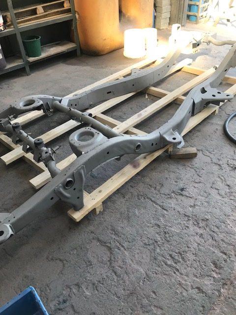 Aérogommage et galvanisation châssis 4×4
