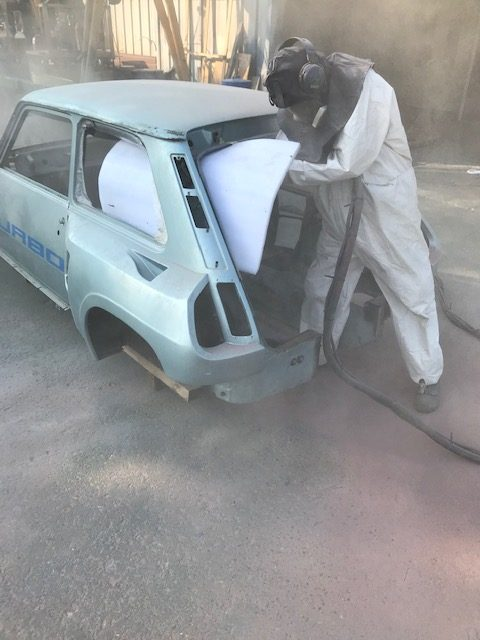 Aérogommage voiture